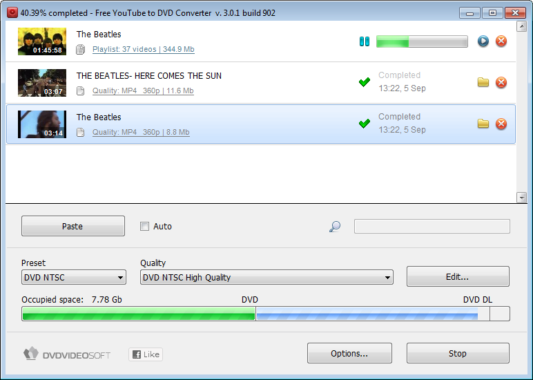 Free YouTube To DVD Converter 2012