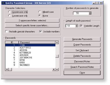 Quicky Password Generator 1.2