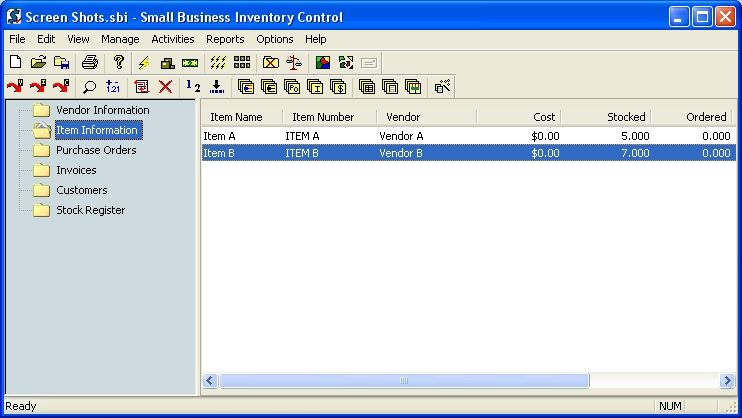 Small Business Inventory Control Pro 8.3