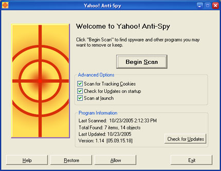Yahoo Toolbar With Anti Spyware 7.1